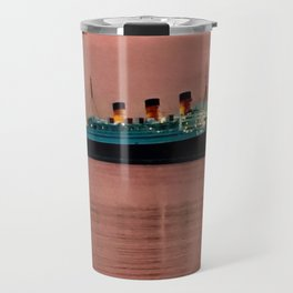 The Queen Mary at Dusk Travel Mug