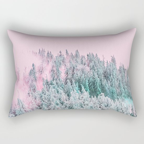 Forest Fog V5 #society6 #decor #buyart Rectangular Pillow