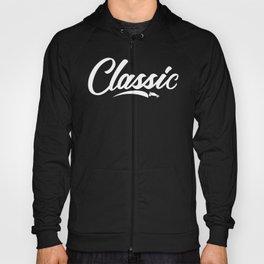 White Classic Logo Hoody