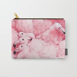 flamingo colorful Carry-All Pouch