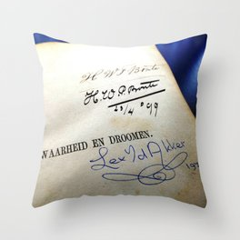 Message In A Book 4 Throw Pillow