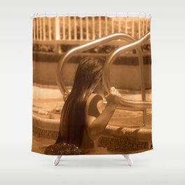 Hangin' by the Pool Shower Curtain
