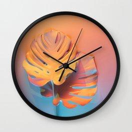 Tropical Paradise Sunset Wall Clock