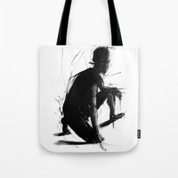 knight Tote Bags featuring Knight by t-edition