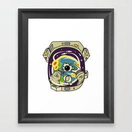SPACE SELFIE Framed Art Print