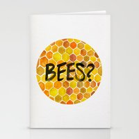 bees Stationery Cards featuring BEES? by Cat Coquillette