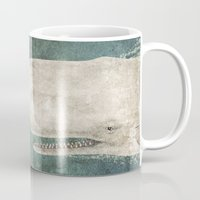 whale Mugs featuring The Whale - vintage option by Terry Fan
