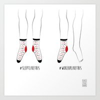 socks Art Prints featuring Socks by Nadine Noko