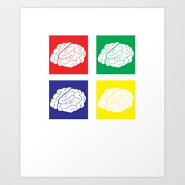 Save Brains Art Print