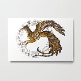 On Wings of Gold Metal Print
