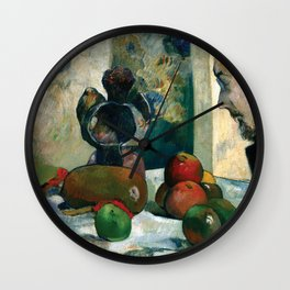 Still Life with Profile of Laval by Paul Gauguin Wall Clock