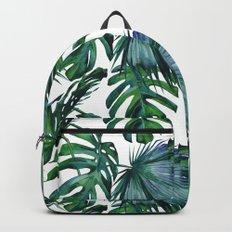 Tropical Palm Leaves Classic Backpacks