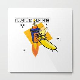 Banana Astronaut Metal Print