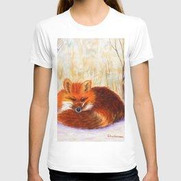 Red fox small nap | Renard roux petite sieste T-shirt