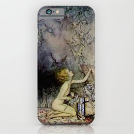 """Pandora Opens the Box"" by Arthur Rackham iPhone Case"