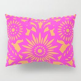 PAPEL PICADO - pink orange Pillow Sham