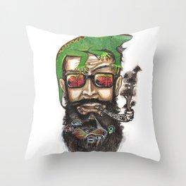 The Bearded Mountain Throw Pillow