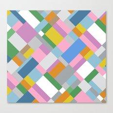 Grey Pink Map 45 Canvas Print