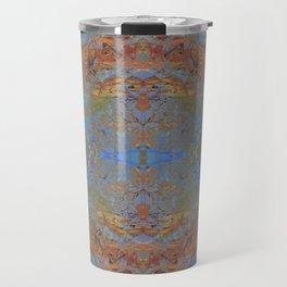 Fall blue geometry Travel Mug
