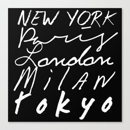 Fashion Capitals of the World Canvas Print
