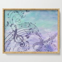 Music Notes Flutter Serving Tray