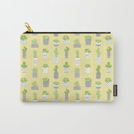 Succulents & Cacti - Yellow Carry-All Pouch