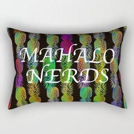 Mahalo Pineapple Stripe Rectangular Pillow