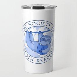 Society of Sloth Readers Travel Mug