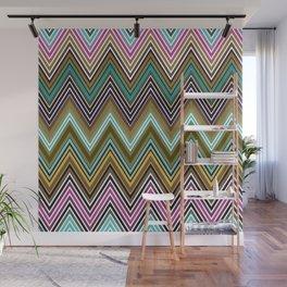 Zigzag Ultra Thin Lines Crochet  Pattern Wall Mural