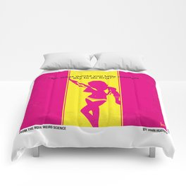 No106 My Weird science minimal movie poster Comforters