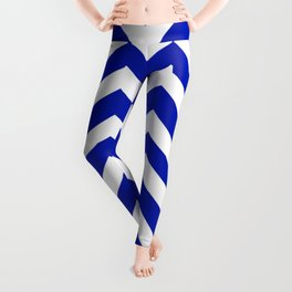 Blue (Pantone) - blue color - Zigzag Chevron Pattern Leggings