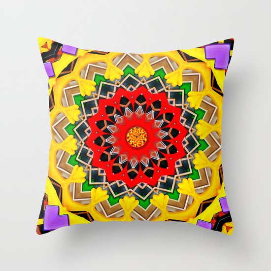 Plastic Reality Throw Pillow