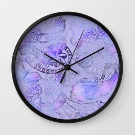 Paisley Glow Lilac Wall Clock