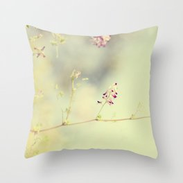 soft scent of spring Throw Pillow