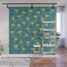 Retro Vintage Cocktail Pattern 4 Wall Mural