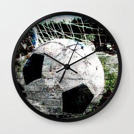 Modern soccer ball art vs 8 Wall Clock