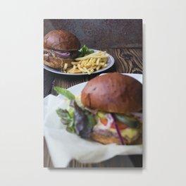 Burger 03 Metal Print