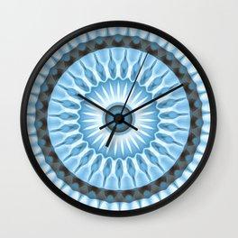 Denim Daisy Kaleidoscope Wall Clock