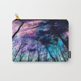 Black Trees Colorful SpacE Carry-All Pouch