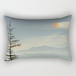 Rainbow clouds at the mountains at sunrise Rectangular Pillow