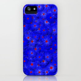 blue daisy flowers iPhone Case