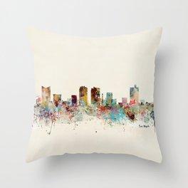 fort worth skyline Throw Pillow