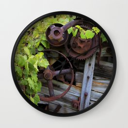 Overgrown Machinery Wall Clock