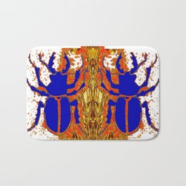 Lapis Blue Beetle on Gold Bath Mat
