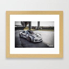 "Porsche 991 GT3RS ""Faith Hope Love"" Framed Art Print"