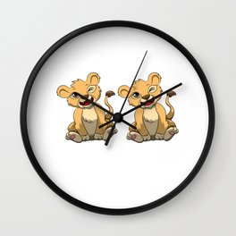 I'm This Many Lions Old 2 Yr Two Puppy Lion Wall Clock