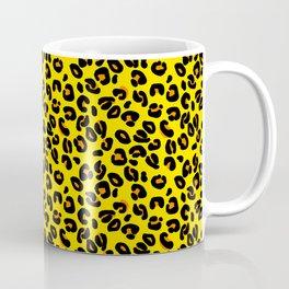 Lemon Yellow Leopard Spots Animal Print Pattern Coffee Mug