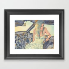 In a Car Framed Art Print