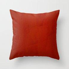 Italian Style Red Stucco Throw Pillow