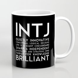 INTJ (black version) Coffee Mug